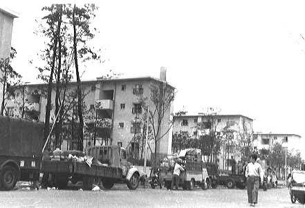 昭和35年4月、常盤平団地の入居開始 常盤平団地の入居開始 昭和35年4月、団地への入居が始まり